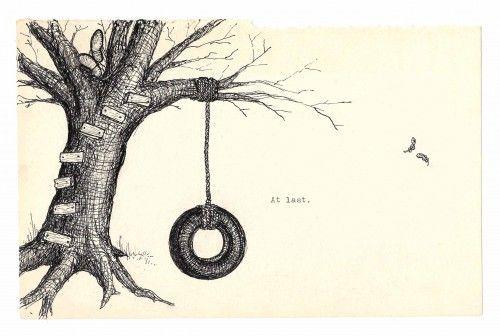 500x336 Tree Drawing Tumblr