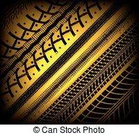 200x194 Collection Bicycle Tire Tracks, Seamless Texture Clipart Vector