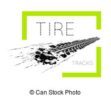 224x194 Tire Tracks, White Background Tire Tracks Leading Far