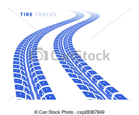 450x372 Tire Tracks. Illustration On White Background Drawing