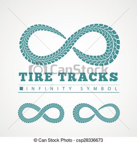 450x470 Tire Tracks. Vector Illustration On Grey Background Vectors