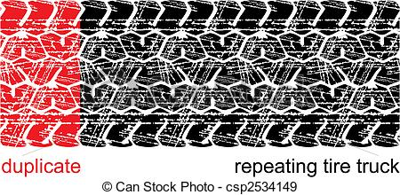 450x220 Vector Tire Tracks (Repeating Left To Right) Eps Vectors