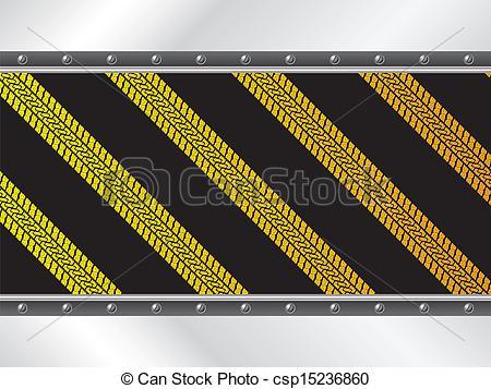 450x357 Yellow Tire Tracks On Black Background Design Clip Art Vector