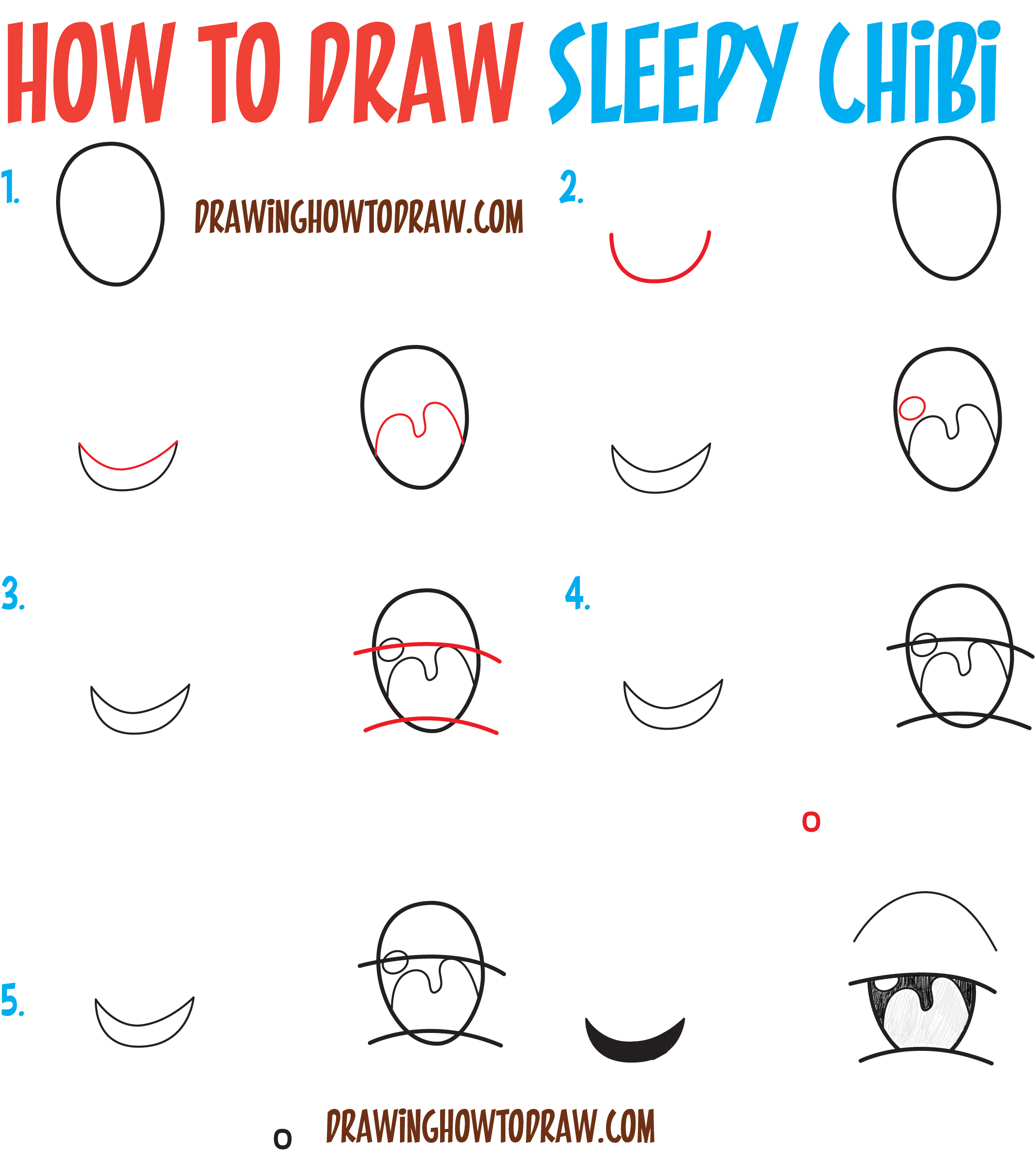 2142x2379 How To Draw Tired Sleepy Exhausted Chibi Expressions