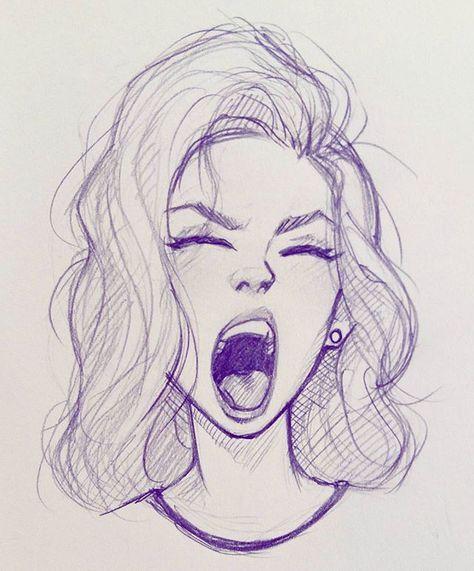 474x571 Illustration Drawing Woman Tired Art Artworks