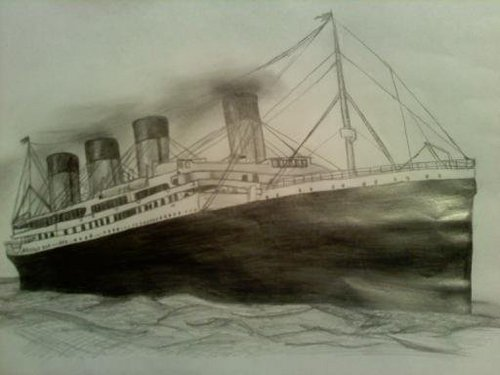 500x375 Drawing Images The Titanic Wallpaper And Background Photos (20491639)