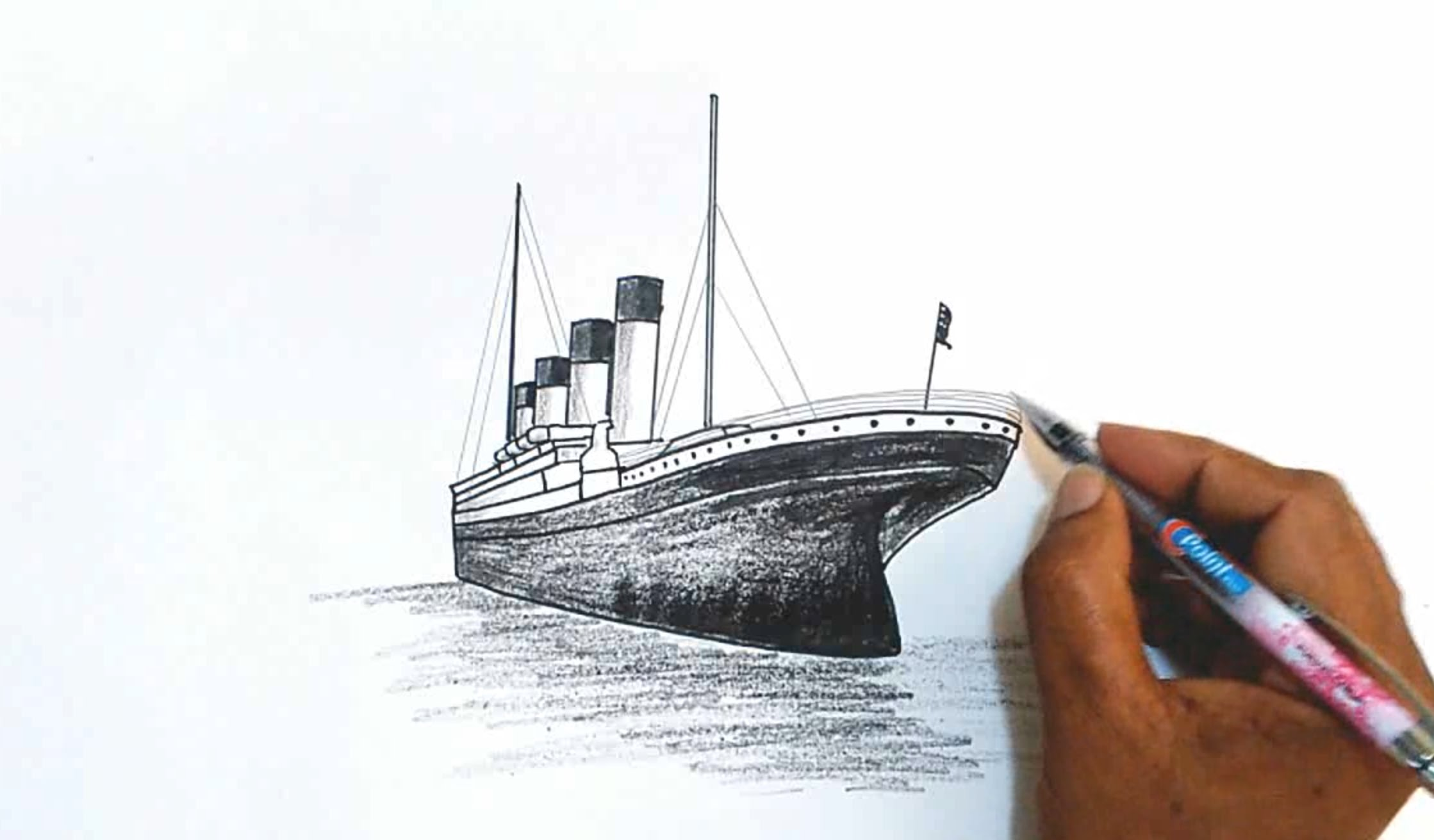 2238x1312 How To Draw The Titanic