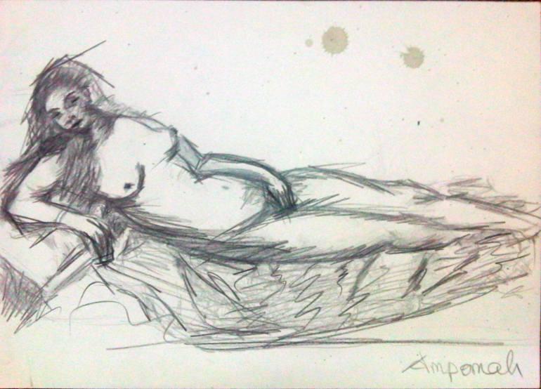 770x554 Saatchi Art Titanic Drawing By Eric Yeboah