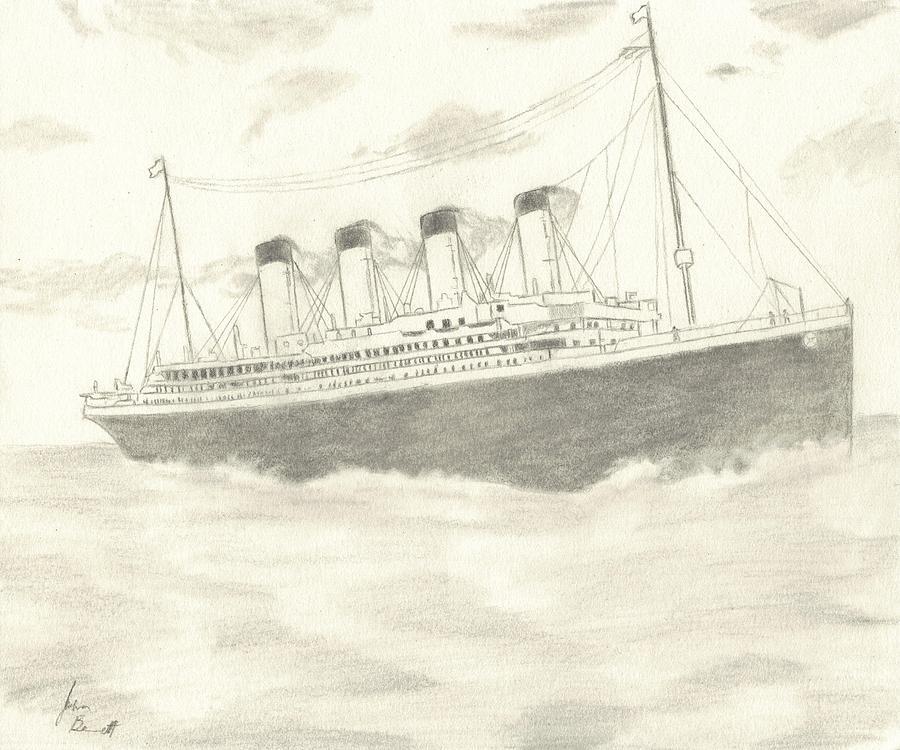 900x750 Titanic Drawing By Josh Bennett