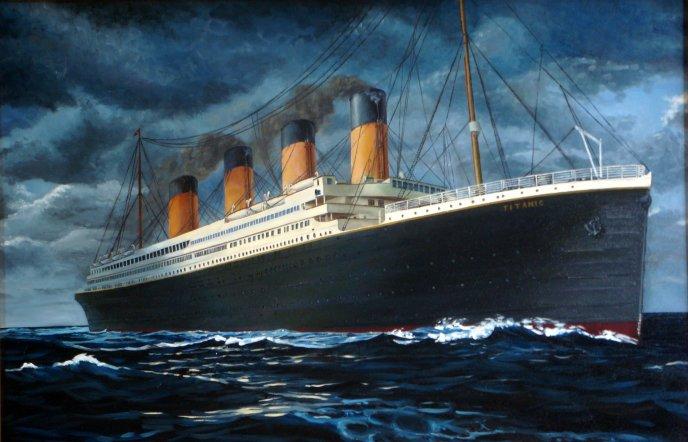 688x442 Titanic Drawing