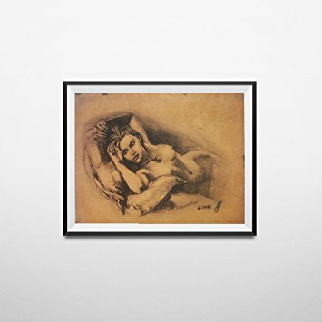 355x355 Naked Rose Sketch Drawing Poster Titanic Nude Print