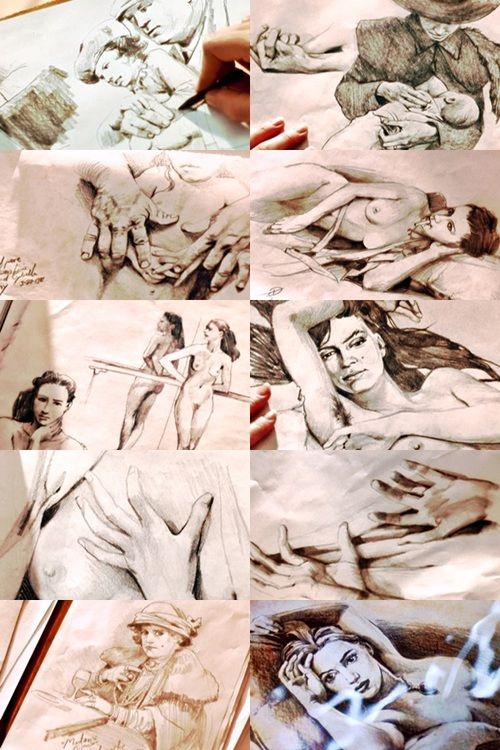 500x750 The Film Rose's Portrait Is A Painting By Cameron, He Is Left