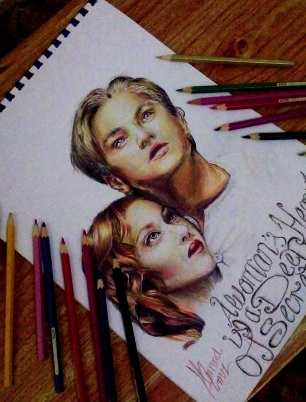 600x788 Timelapse Speed Jack And Rose From Titanic Colored Drawing