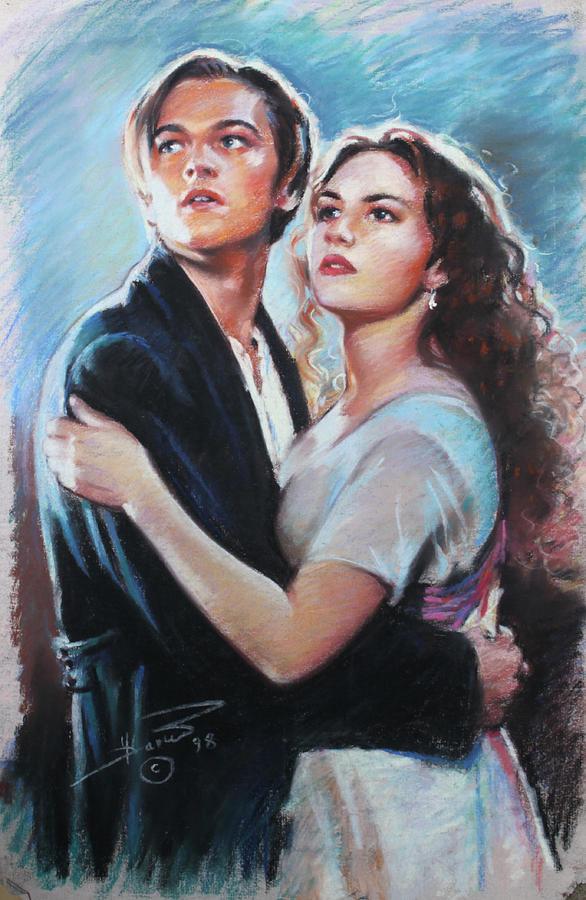 586x900 Titanic Jack And Rose Drawing By Viola El