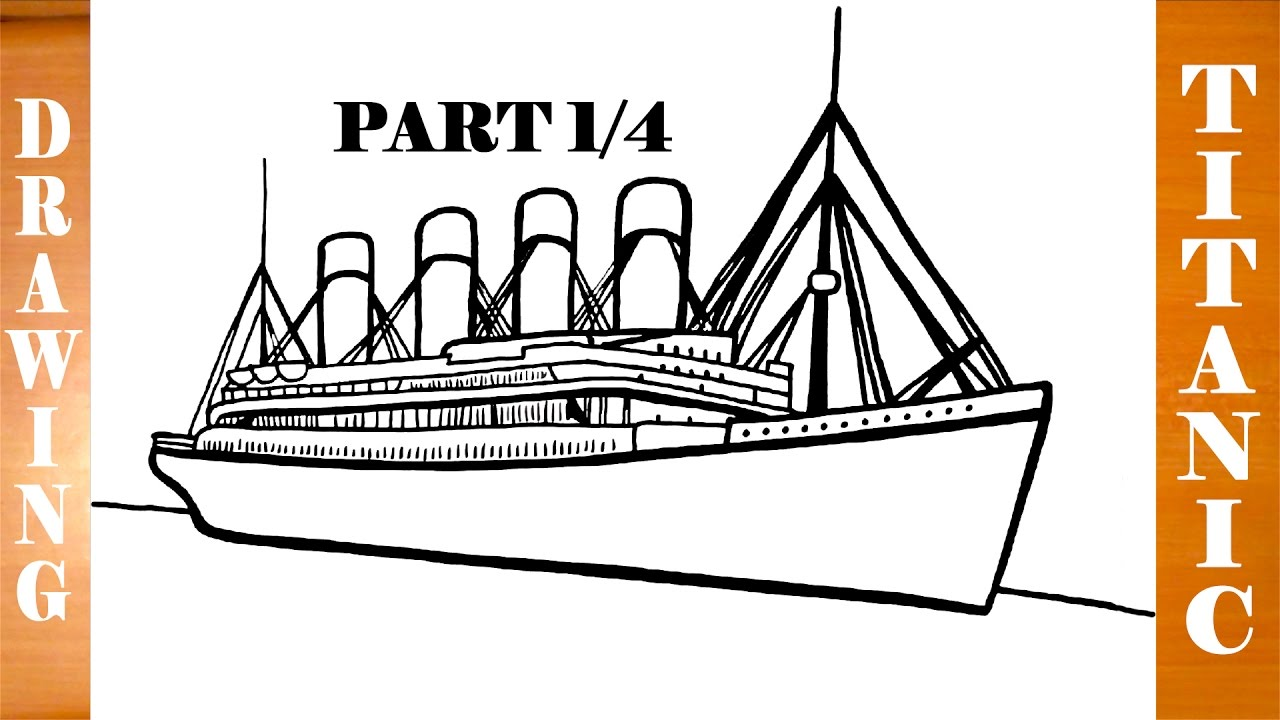 1280x720 How To Draw Titanic Ship Step By Step Easy For Kids In Pencil