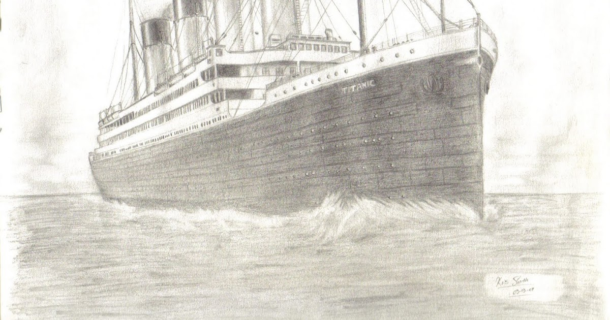 1200x630 Most Beautiful Drawing In The World How To Draw Titanic Ship