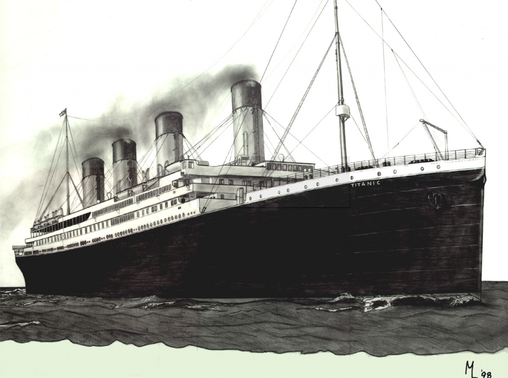 1024x761 Titanic Pencil Drawing Mark Lane39s Drawings