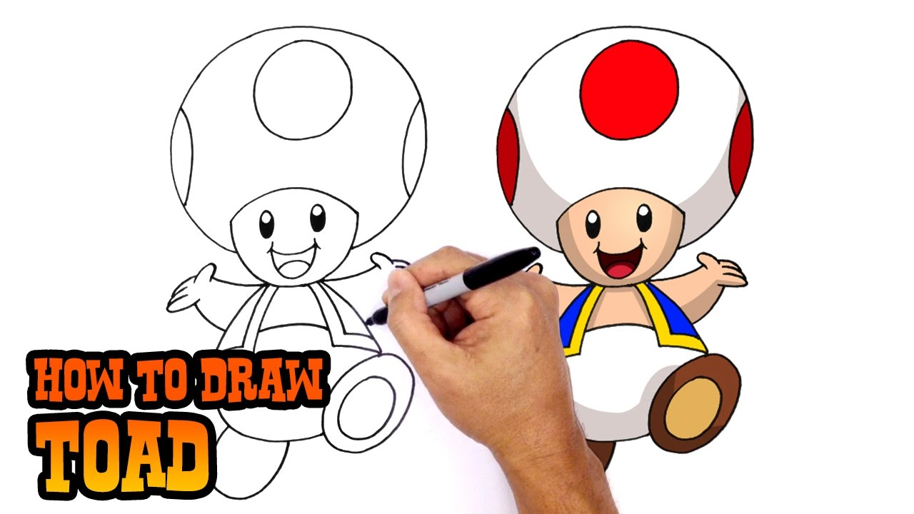 1280x720 How To Draw Toad Super Mario Bros