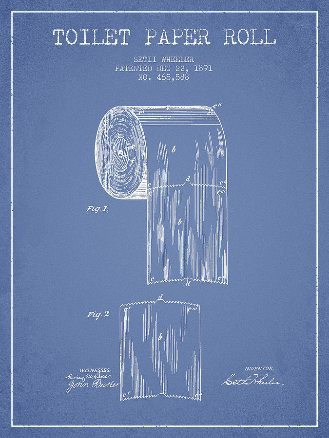 675x900 Toilet Paper Roll Patent Drawing From 1891