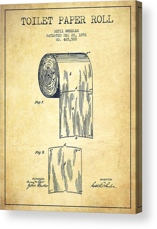 517x750 Toilet Paper Roll Patent Drawing From 1891