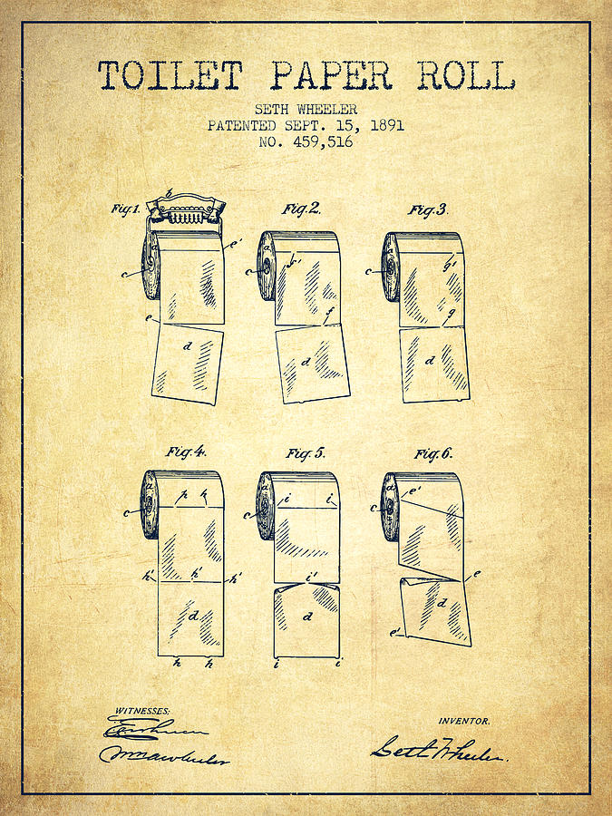 675x900 Toilet Paper Roll Patent From 1891