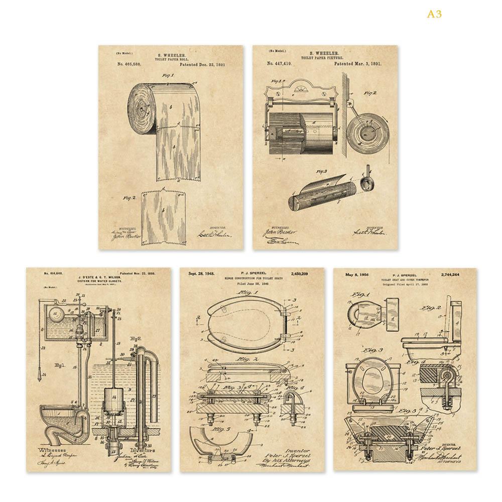 1000x1000 Vintage Patent Art On Toilet Paper Or Paper Fixture Toilet Seat
