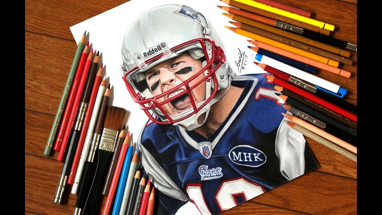 1280x720 Drawing Tom Brady The New England Patriots