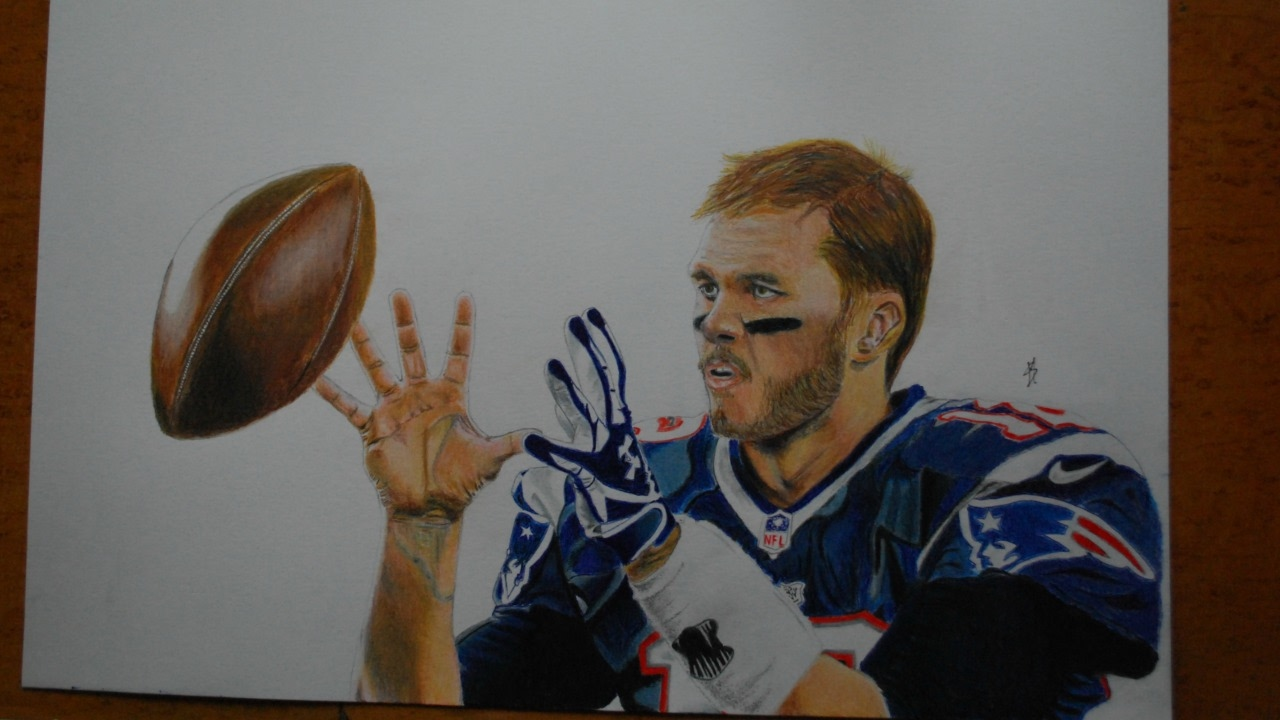 1280x720 Drawing Tom Brady