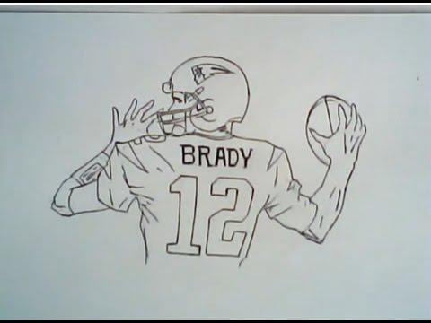 480x360 How To Draw Tom Brady In Super Bowl 49 (Patriots Drawing)