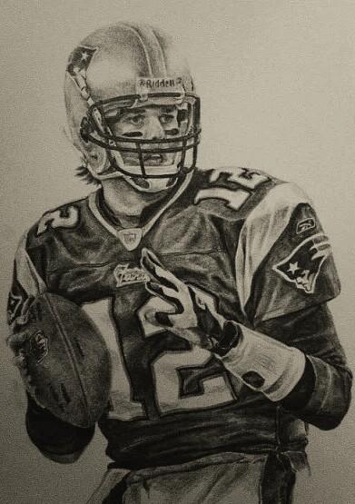 391x555 Tom Brady Pencil Drawing Patriots