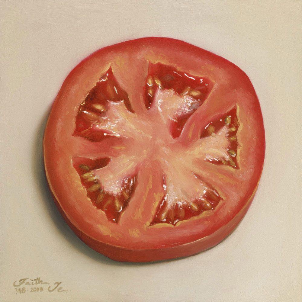 1000x1000 Tomato Slice Painting