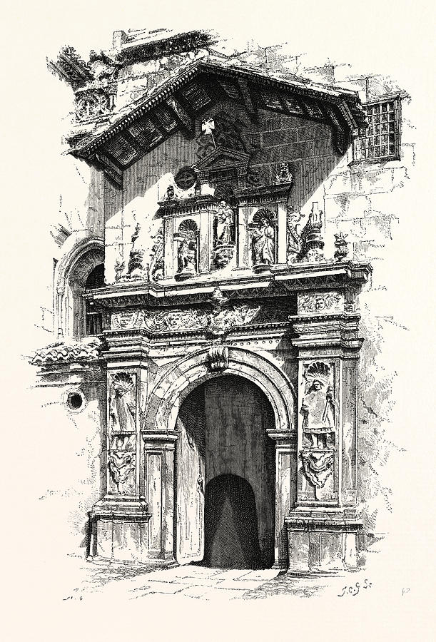 611x900 Entrance To The Tomb Of Ferdinand And Isabella Drawing By English