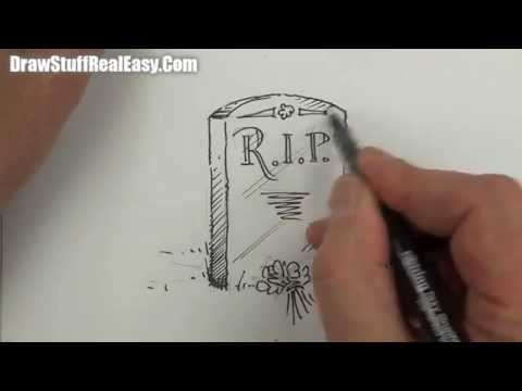 480x360 Drawing A Tombstone Real Easy