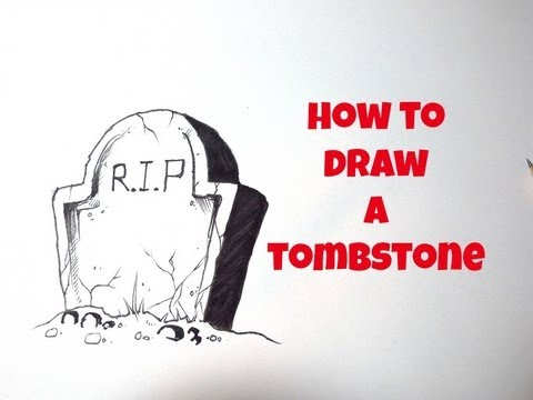480x360 How To Draw A Tombstone