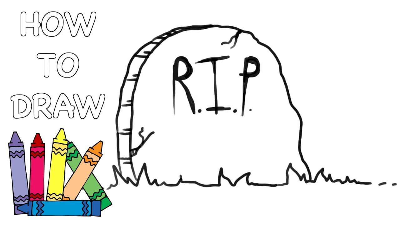 1280x720 How To Draw A Tombstone Grave