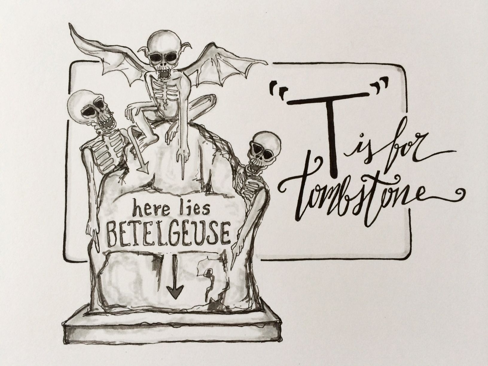 1632x1224 T Is For Tombstone Beetlejuice Alphabet