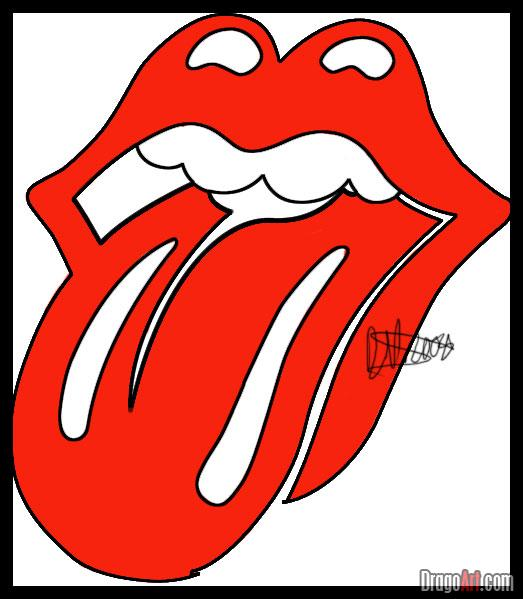 523x599 How To Draw The Rolling Stones Lips And Tongue, Step By Step, Band