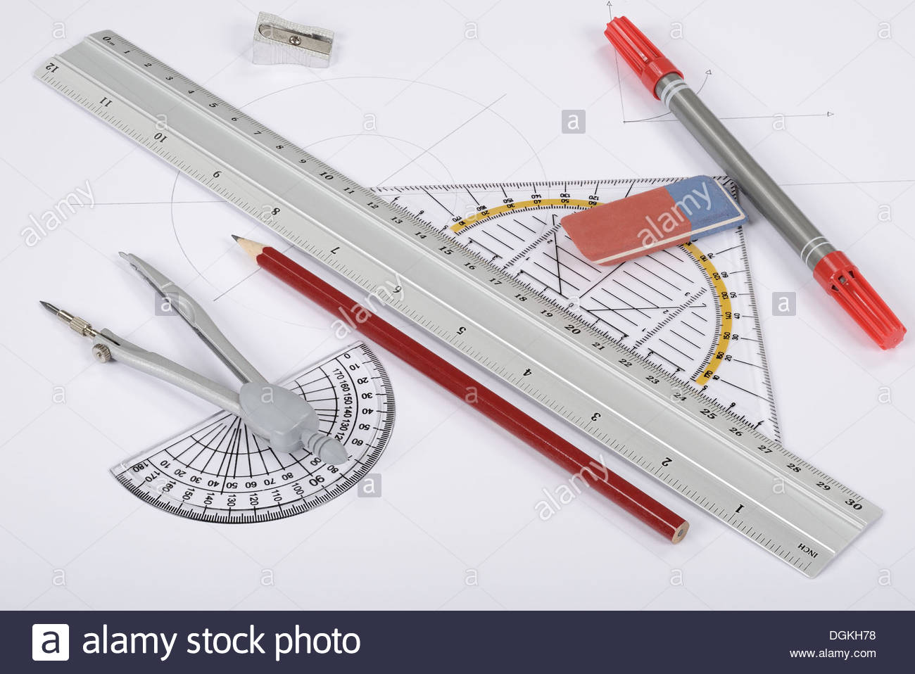 drawing tools. 1300x958 Circle Ruler Triangle Drawing Tools Stock Photo 61896220 W