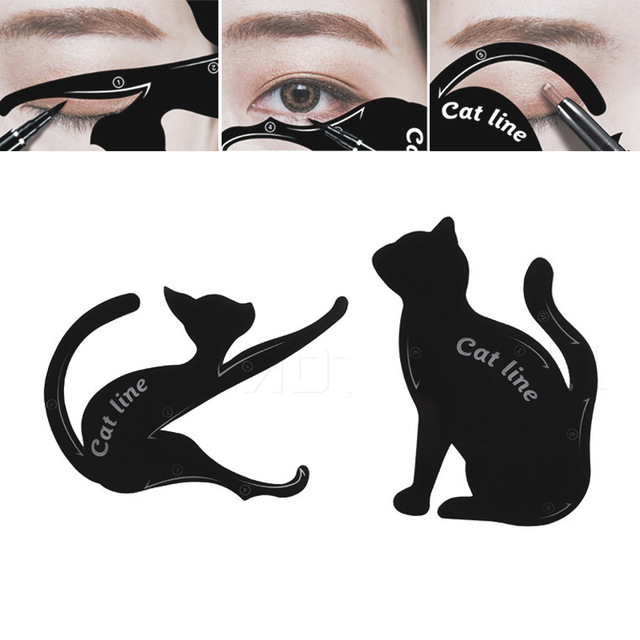 640x640 Eyeliner Stencil Cat Eyebrow Stamping Template Plastic Makeup Tool