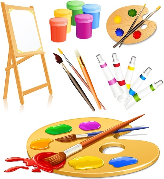 550x599 Vector Drawing Tools Supplies Free Vector In Encapsulated