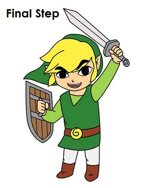 300x388 How To Draw Toon Link