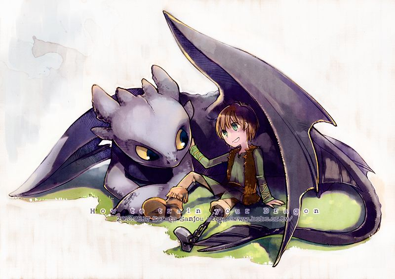 800x566 From Sorata S How To Train Your Dragon, Toothless, Hiccup