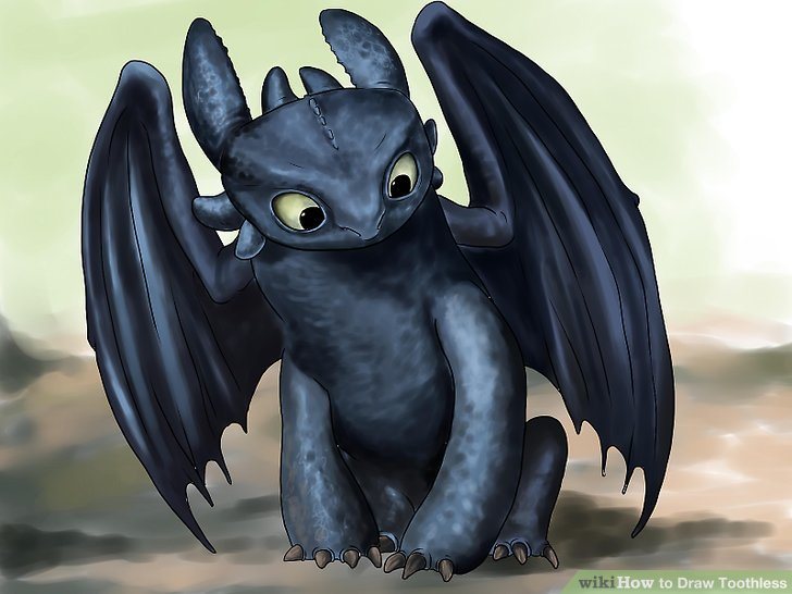 728x546 How To Draw Toothless (With Pictures)