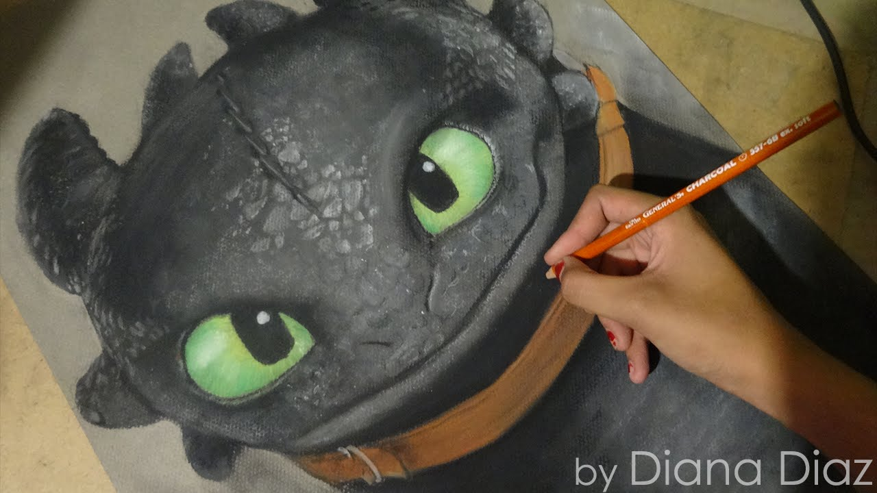 1280x720 Speed Drawing Toothless Chimuelo (How To Train Your Dragon