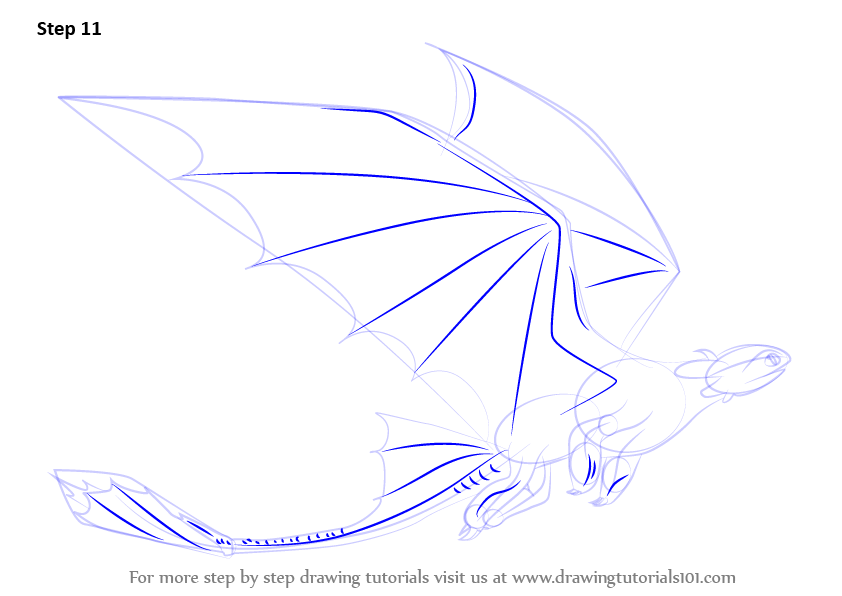 842x596 Learn How To Draw Toothless Flying From How To Train Your Dragon
