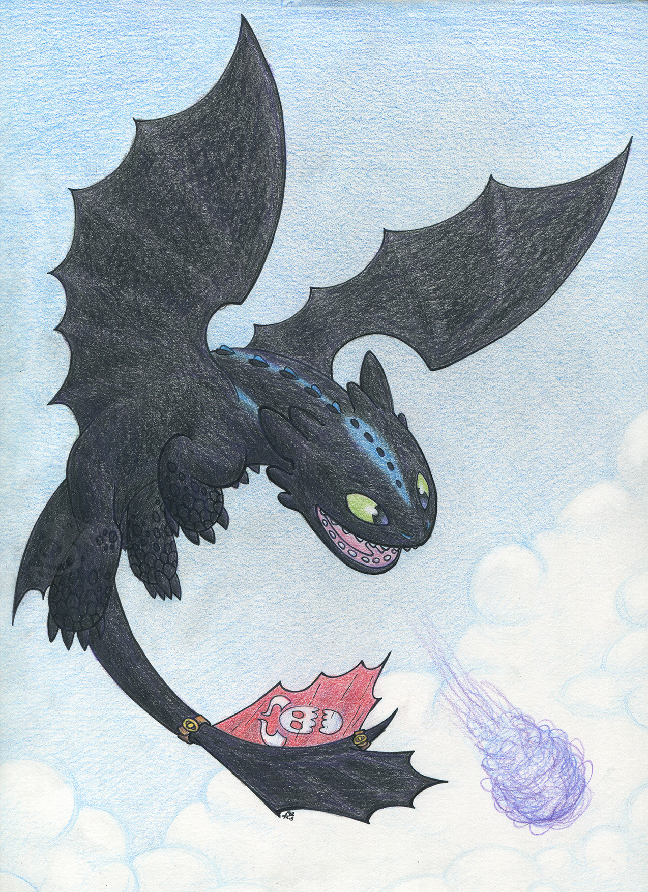 1274x1754 Oddstuffs A Friend Commissioned Me To Draw Alpha Toothless