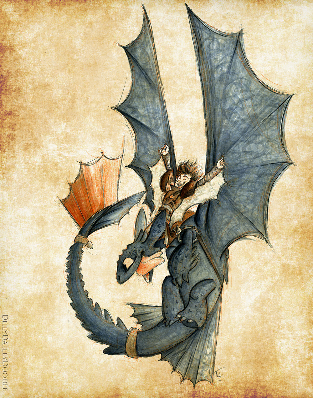 1000x1273 Happy Hiccup In Flight Suit Amp Toothless ~ Httyd2 Fan Art