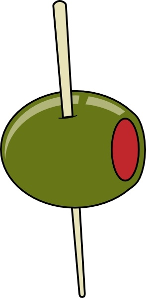 294x598 Green Olive On A Toothpick Clip Art Free Vector In Open Office