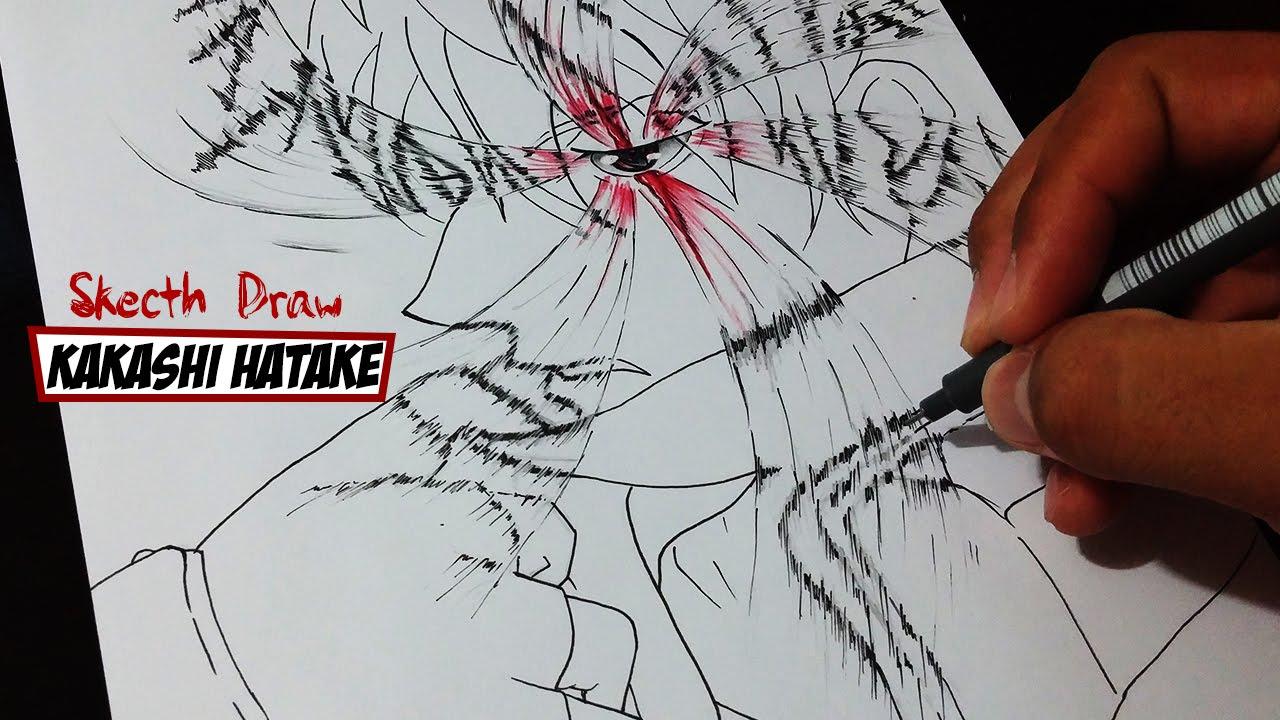 1280x720 Drawing Kakashi Hatake Magekyou