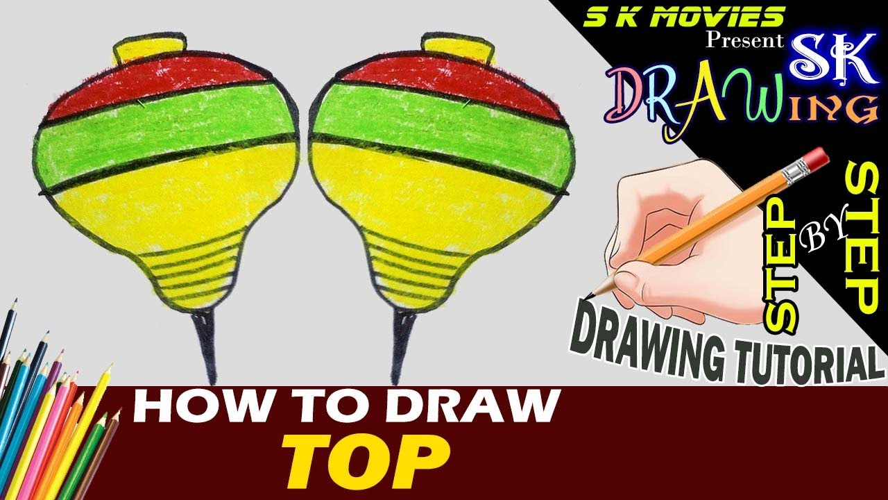 1280x720 How To Draw A Top Top Easy Drawing Step By Step Tutorial